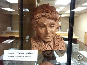 Sarah Winchester - Terracotta Bust, by Annie Knapp Fitz