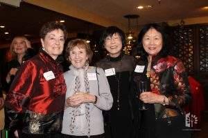 Chef Chu's 50th, Jane, Paulette Henning, Eleanor Watanabe, & Connie Young Yu, 2/9/2020.