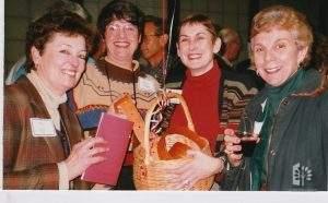 Jane, Ginnie Dolan, Madelyn Crawford & Marge Bruno, Crab Feed 1999.