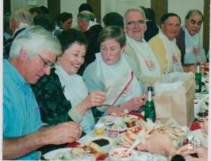 Dave Backs, Jane, Julie Rose, & John Reed, Crab Feed 2003.