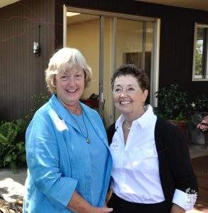 Two amazing Golden Bears, Ginger Beman & Jane, 2016 Board Retreat.