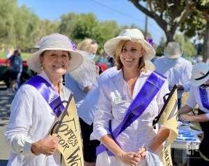 "Jane Reed with Elisabeth Ward at ""Women on Wheels"" Car Parade, Aug 26, 2020."