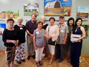 """Jane with """"Paint the Town II"""" Judges & Winners, July 19, 2018."""