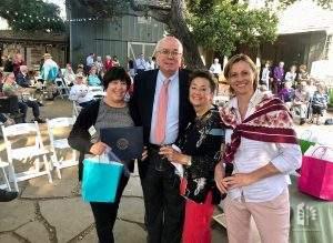 Lori Tuttle, Joe Simitian, Jane & Elisabeth Ward, 2019 Volunteer Recognition event.