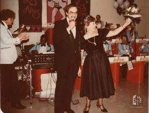 Roy Lave and Jane Reed, 30th Anniversary of Los Altos, 1982.