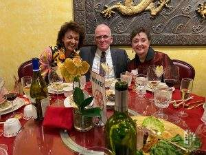 Cindy Wemyss, John & Jane Reed enjoy Chef Chu's 50th Anniversary! Feb 9, 2020.