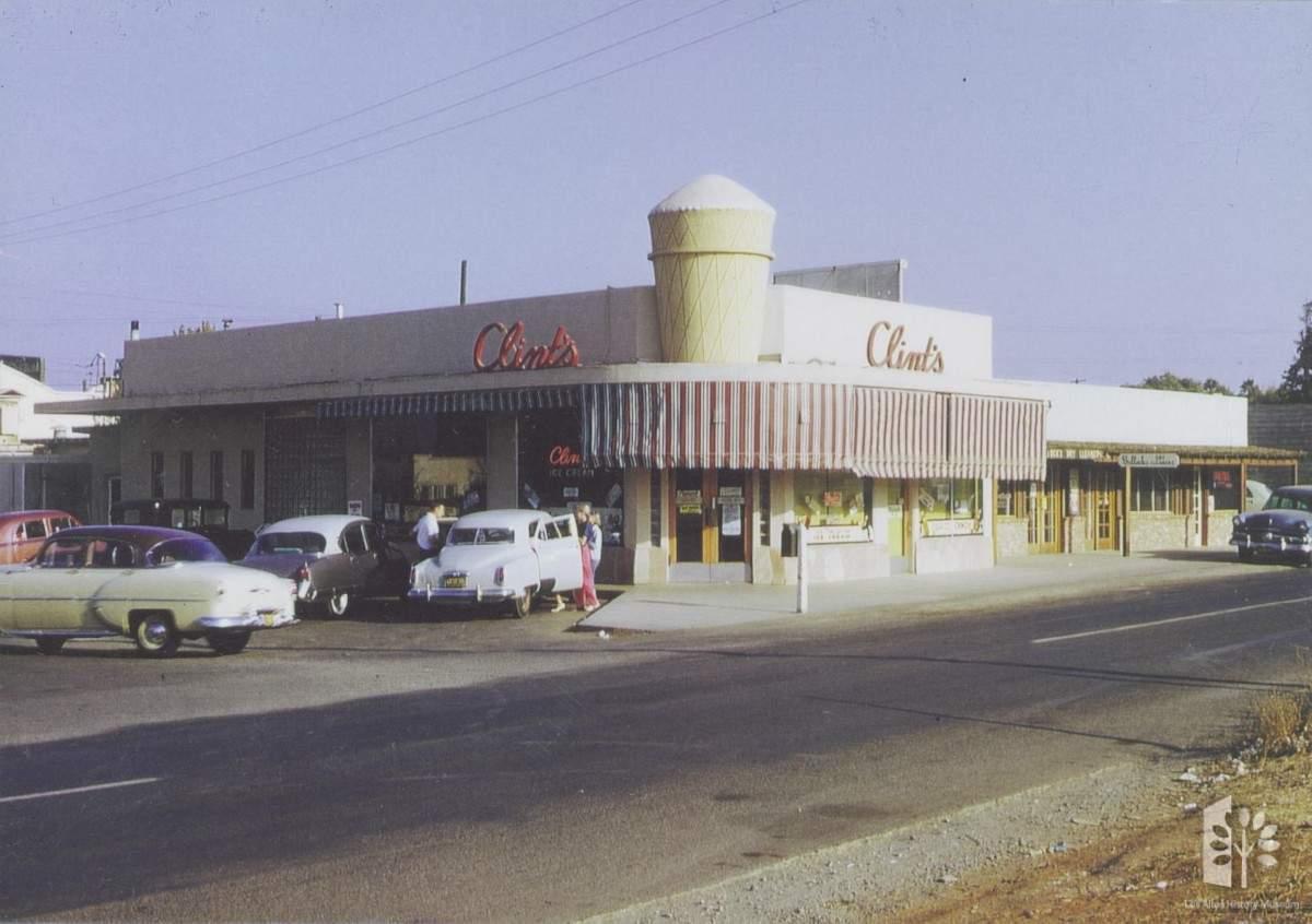 Clint's Ice Cream, First St. Los Altos, Circa 1950s.